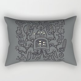 Evil Crabkillbot from Crab Nebula Against Humanity Rectangular Pillow
