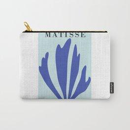 Modern art print inspired by Henri Matisse, blue ,matisse blue  poster Carry-All Pouch