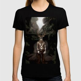 Skinwalker Navajo inspired shapeshifter with deer head T-shirt