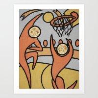 Basket Ball - Sport Fever Art Print
