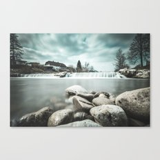 Waterfall on Sora river, Medvode Canvas Print