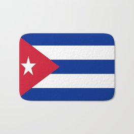 Flag of Cuba -cuban,havana, guevara,che,castro,tropical,central america,spanish,latine Bath Mat