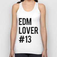 edm Tank Tops featuring EDM Lover #13  by DropBass