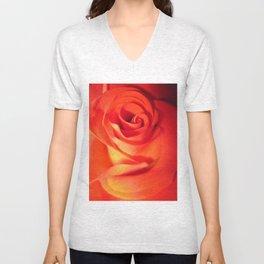 Sunkissed Orange Rose 10 Unisex V-Neck