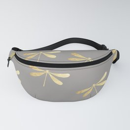 dragonfly pattern: gold & grey Fanny Pack