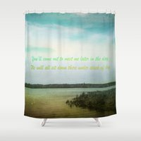 poem Shower Curtains featuring Summer Poem by Armine Nersisian