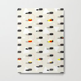 Pucks & Geometries #society6 #hockey #sport Metal Print