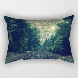 Dreamy Train Tracks Rectangular Pillow