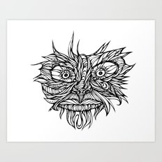 Face Flow Line Art Print