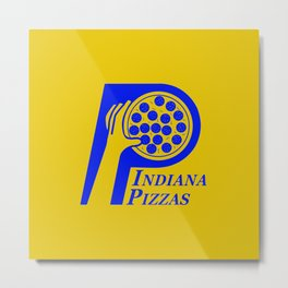 Indiana Pizzas Metal Print