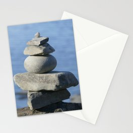 Stone on stone,  tranquility Stationery Cards