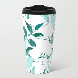 fresh green leaf pattern Travel Mug