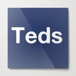 Teds Metal Print