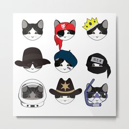A Cat Living Nine Lives Metal Print