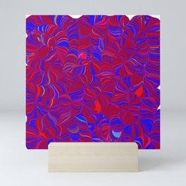 fugue in red and blue Mini Art Print
