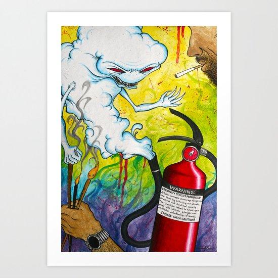 """""""Extinguish"""" Art Print"""