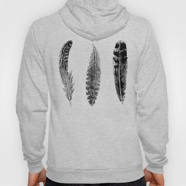 Feather Trio | Black and White Hoody