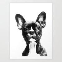 french bulldog Art Prints featuring French BullDog by Maioriz Home