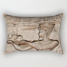 Horus and Temple of Edfu Rectangular Pillow