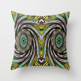 Silver Eyes Throw Pillow