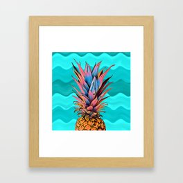 Colorful Pineapple Framed Art Print