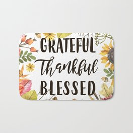 Grateful Thankful Blessed Fall Bath Mat