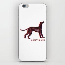Greyhound Dog   Animal Art Design iPhone Skin