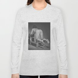 Naked woman Tied on the Whipping bench Long Sleeve T-shirt