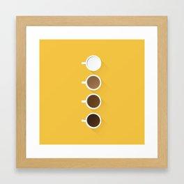 Coffee + Simplicity Framed Art Print