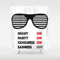 sunglasses Shower Curtains featuring COOL SUNGLASSES by eARTh