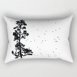 Pine Tree Flock in Bend, Oregon by Seasons K Designs Rectangular Pillow