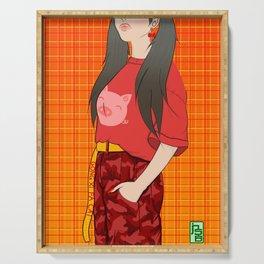 Lunar New Year - Streetwear Girl Serving Tray
