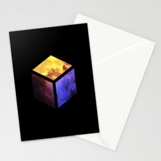 Nebula Cube - Black Stationery Cards