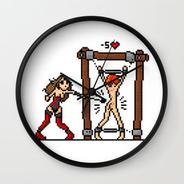 BDSM Pixel Scene Wall Clock
