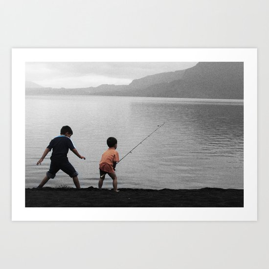 On The Lake Art Print