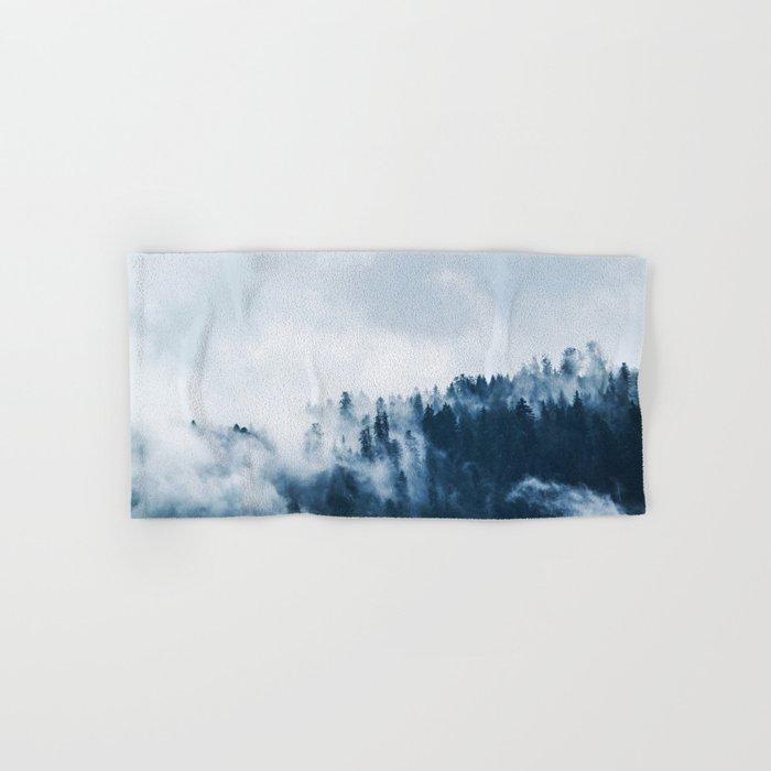 Smoke & Fog #blue Hand & Bath Towel