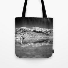 Mono Lake Black and white Tote Bag