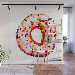 Pink donuts for all Wall Mural