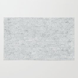 White Washed Brick Wall Stone Cladding Rug