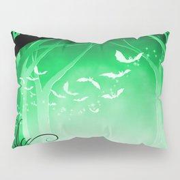Dark Forest at Dawn in Emerald Pillow Sham