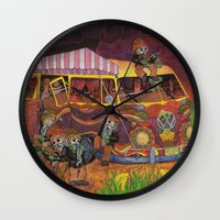 doom Wall Clocks featuring Doom Party by Amanda James
