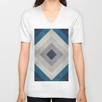 greece V-neck T-shirts featuring Greece Hues Tunnel 2 by Diego Tirigall