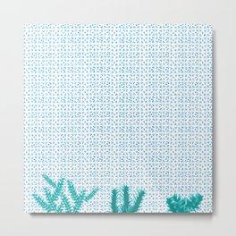 tiles and plants Metal Print