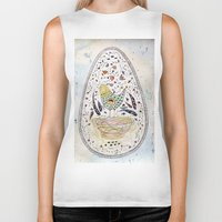 egg Biker Tanks featuring Egg by Infra_milk