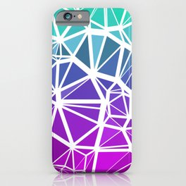 Low Poly Jewel Tones Gradient iPhone Case