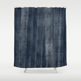 Blue in the woods Shower Curtain