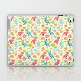 Tea Rex seamless pattern Laptop & iPad Skin