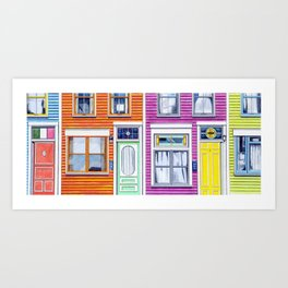 Jelly Bean Row, 2016 Art Print