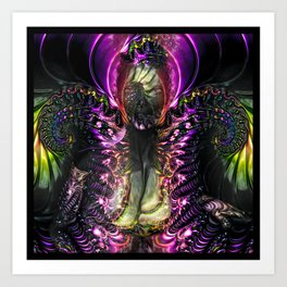 Chaotic Order Being V1 Art Print