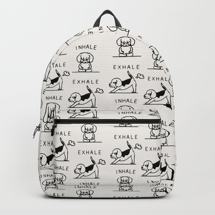 Inhale Exhale Beagle Backpack